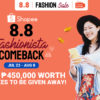 Win ₱450,000 worth of prizes at Glamorous Shopee Live 8.8 Fashionista Comeback